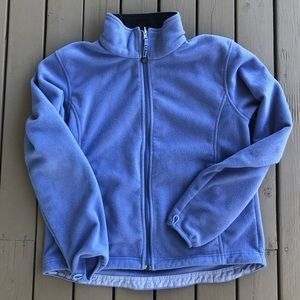 LL Bean Indigo Zip Up Fleece Sweater